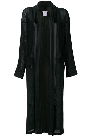 Issey Miyake Long pleated open front jacket