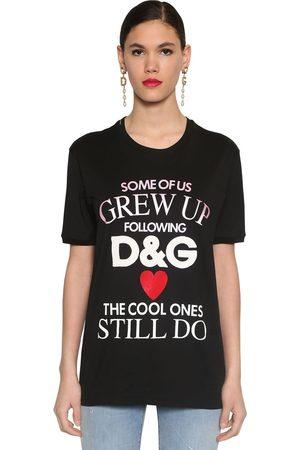 Dolce & Gabbana Printed Cotton Jersey T-shirt
