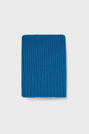 Zara Men Scarves - Purl-knit scarf