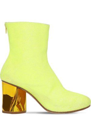 Maison Margiela 80mm Glittered Sock Ankle Boots