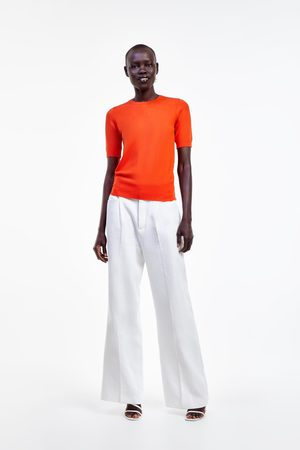 Zara Basic short sleeve sweater