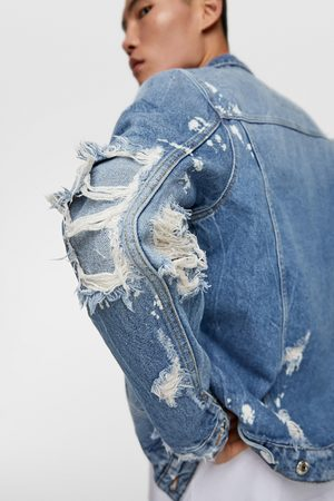 8faa323f Buy Zara Denim Jackets for Men Online | FASHIOLA.in | Compare & buy