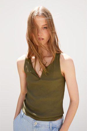 Zara Women Tank Tops - Textured tank top