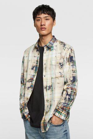 c5d1b9420c Tie-dye check shirt