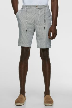 Zara Striped rustic bermuda shorts