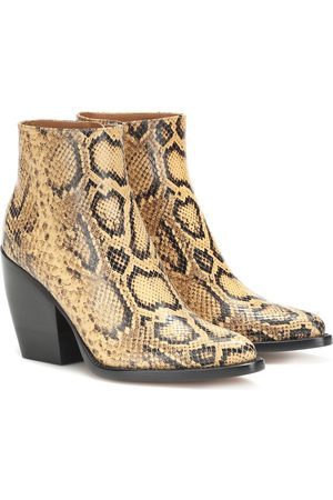 Chloé Exclusive to Mytheresa – Rylee snake-effect leather boots