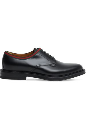 Gucci 15mm Leather Derby Shoes