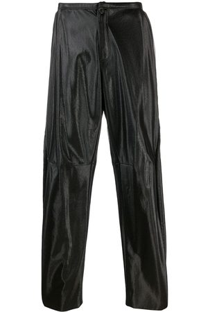 WALTER VAN BEIRENDONCK Men Leather Trousers - 2009/10's Glow faux leather trousers