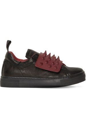 AM 66 Spiked Leather Sneakers