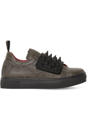AM 66 Boys Sneakers - Spiked Leather Sneakers