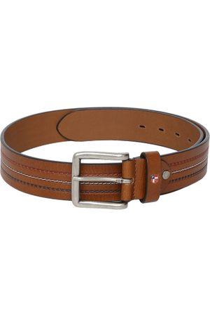 Ralph Lauren Men Tan Brown Leather Solid Belt