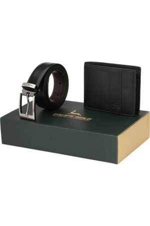 """Pacific Reversible 30"""" Belt And Wallet Combo Gift Set For Men"""
