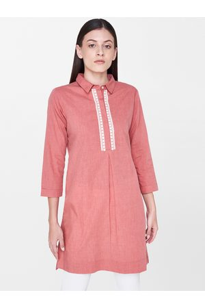 AND Women Pink Solid Tunic