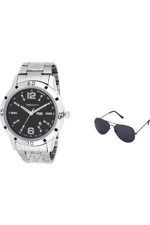 TIMESMITH Men Black Analogue Watch with Sunglasses TSC-023-WMG-002