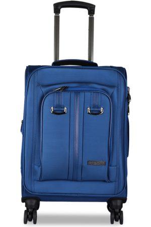 Kenneth Cole Unisex Navy Blue Solid Medium Trolley Bag