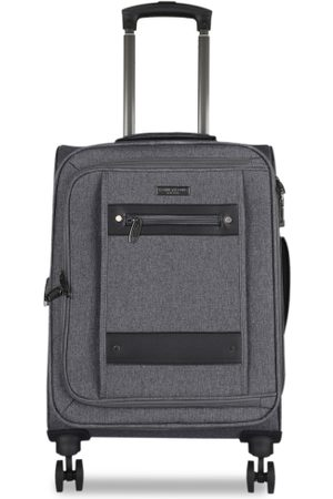 Kenneth Cole Unisex Grey Solid Cabin Trolley Bag