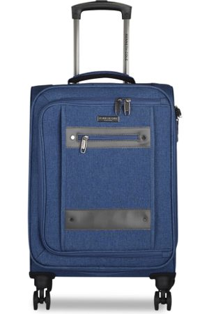 Kenneth Cole Luggage - Unisex Navy Blue Solid Medium Trolley Bag