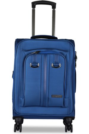 Kenneth Cole Unisex Navy Blue Solid Cabin Trolley Bag