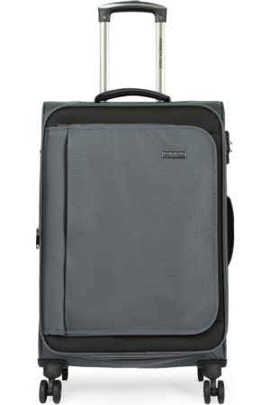 Kenneth Cole Unisex Grey Solid Medium Trolley Bag