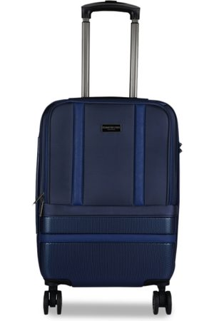 Kenneth Cole Unisex Navy Blue Solid Large Trolley Bag