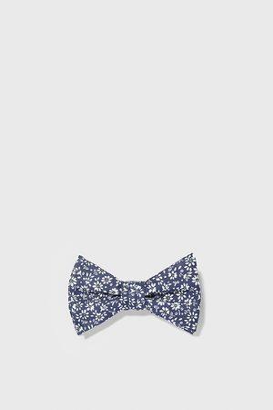 Zara Floral print linen bow tie