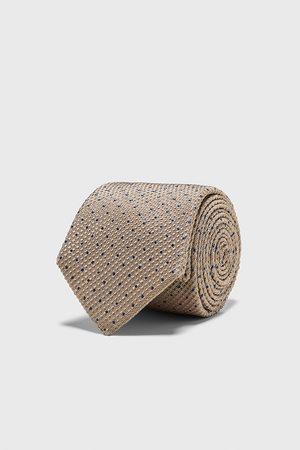 Zara Men Neckties - Polka dot jacquard wide tie