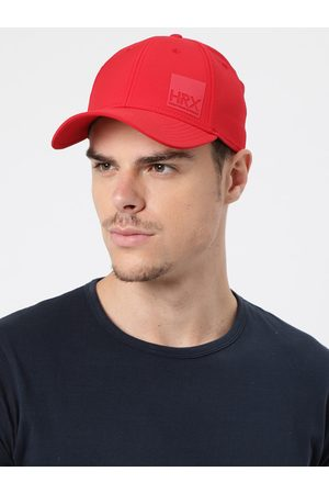 HRX Men Red Solid Baseball Cap