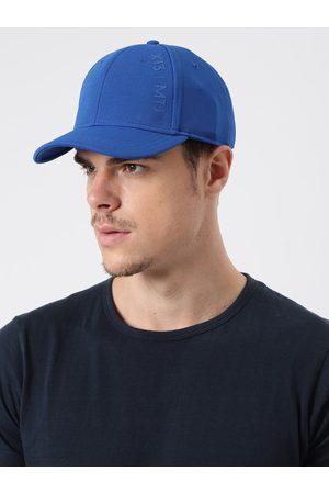 HRX Men Blue Solid Training UV Guard & Dry Fit Sweatband Cap