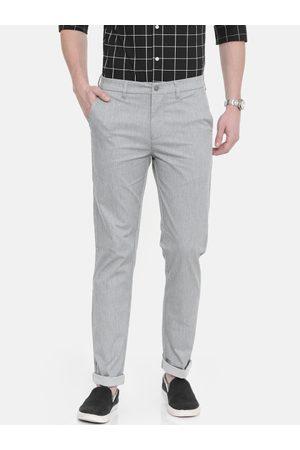 Calvin Klein Men Grey Slim Fit Solid Regular Trousers