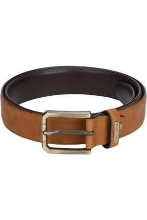 Red Tape Men Tan Brown Leather Solid Belt