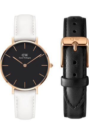 Daniel Wellington Unisex Petite Bondi 32mm Watch & Classic Sheffield Strap Watch Gift Set DW00500274