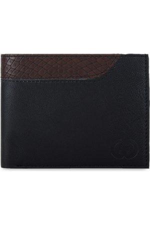 Greywood Men Black Colourblocked Leather Two Fold Wallet
