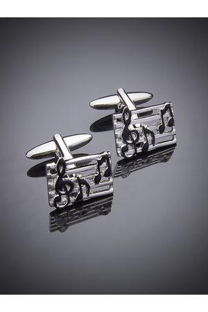 shaze Silver-Plated Jazz Cufflinks