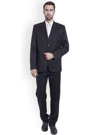 Wintage Men Black Single-Breasted Regular Fit Party Suit