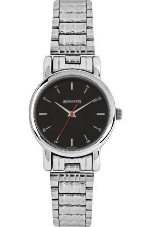 Sonata Men Black Dial Watch 7987SM04
