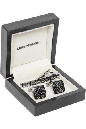 Lino Perros Men Black & Silver-Toned Accessory Gift Set
