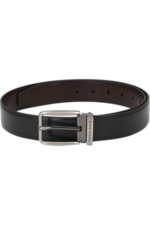 Pacific Men Black & Coffee Brown Solid Reversible Formal Belt