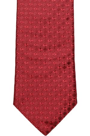 Louis Philippe Red Woven Design Broad Tie