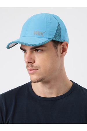 HRX Men Blue Solid Baseball Cap