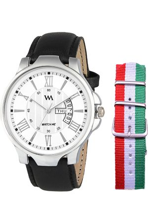 WM Men White Analogue Leather Watch DD-002-ITALY