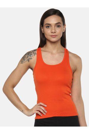 Leading Lady Women Orange Solid Camisole SARA-ORANGE