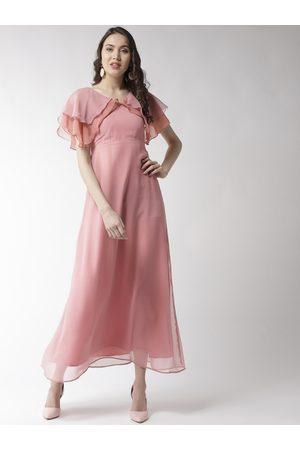 MISH Women Pink Solid Maxi Dress