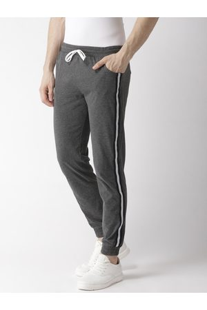Hubberholme Men Charcoal Grey Solid Slim Fit Joggers