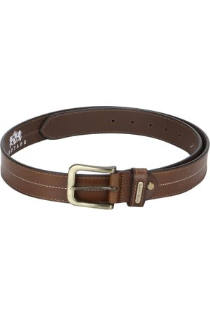 Red Tape Men Tan Brown Solid Leather Belt