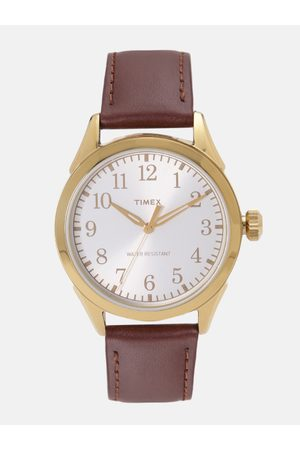 Timex Men Off-White Analogue Watch TWH0Y8010