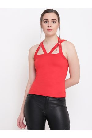 Texco Women Red Solid Top