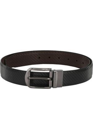 Pacific Men Black & Brown Reversible Textured Belt