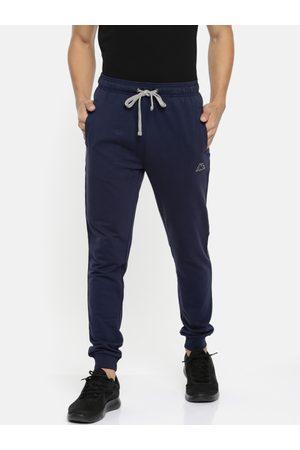 Kappa Men Navy Blue Slim Fit Solid Joggers