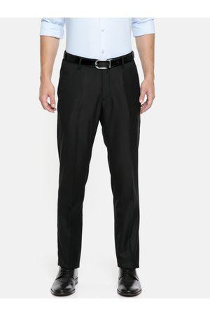 Ralph Lauren Men Black Tailored Fit Solid Formal Trousers