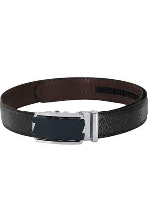 Pacific Men Black Textured Leather Belt